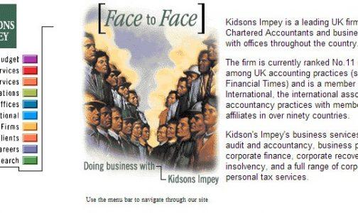 webheads at 25 kidsons website screenshot from 1995 webheads design